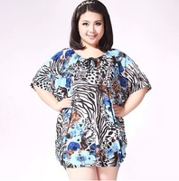 free shipping ! 2014 women's plus size clothing female summer ice silk cotton T shirt girl's loose long tees
