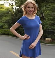 free shipping ! 2014 women's summer plus size clothing L-4XL female loose long T shirt girl's cotton solid ruffles tops