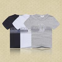 Retail  Brand  2014  New  summer fashion  children  shirt  ative  short  sleeve  shirt  letter  pattern  T-shirt  free shipping