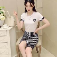 Free shipping! 2014 summer gentlewomen fashion patchwork stripe color block one-piece dress! 3198605