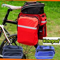 NEW Waterproof fabrics Mountain bike bag saddle bag camel  Package Long haul Cycling bags bicycle saddle bag back seat Package