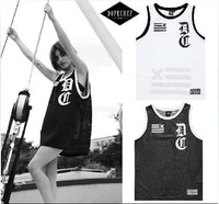 Men's loose gym tank tops shirt new fashion summer 2014 DOPECHEF alphanumeric printing mesh vest casual sport basketball