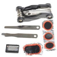 Multi-Functional Bicycle Repair Tools Kit - Black + Silver