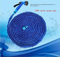 75FT Magic  Hose with Spray gun for watering Garden Irrigation Expandable Stretch Pipe Color Blue or Green