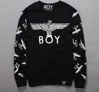 New spring autumn plus size men women London BOY sweatshirt Black/White Gold Eagle hip hop brand sportswear woman hoodies 9Style