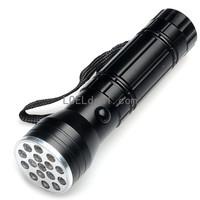 80lm 6000K 16-LED Purple Flashlight - Black (3 x AAA)