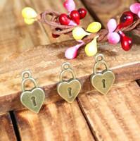135 heart shape lock design diy necklace bracelet component  30pcs/lot 18*10MM  pendants alloy  lucky Charms  Jewelry Findings