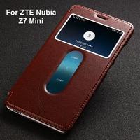 ZTE Nubia Z7 mini case,Fetron Brand Genuine leather back cover case for ZTE Nubia Z7 mini with screen protector / retail package