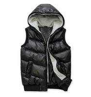Free shipping 2014 winter new Korean Slim down cotton vest fashion casual wave of men vest big size XXXXL  four color