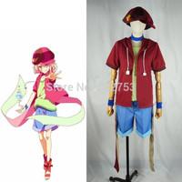 Free shipping custom made Anime No Game No Life Nogemu Noraifu Tet Teto Coat+Underwear+Pants+Hat Cosplay Costume