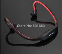 New 2014 Sport Wireless Earphones Headphones Music MP3 Player TF Card FM radio Headset speakers