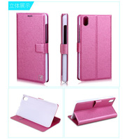 New brand flower show Luxury Flip Leather Shell lenovo s850 Ultra thin Silk Flip leather cover for lenovoe s850 4 colors
