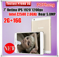 7 inch 1920*1200 Dual Core Tablet Phone Teclast P79HD 3G WCDMA+GSM Intel Z2580 2.0GHz 2G/16G