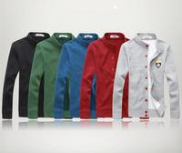 Spring men fleece collar leisure cardigan mens fleece jacket 2014 new arrival