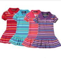Summer 2013 100%cotton Retail Infant/Baby Girls Brand Polo Dress Children/Kids Princess tennis Dresses Free Shipping