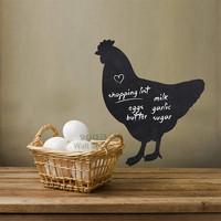Chicken Pattern Blackboard wall sticker, Vinyl waterpoof  Children chalkboard,Free Shipping