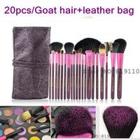 Purple 20Pcs Professional Makeup Brushes set  tool  face eye 20 pcs makeup Cosmetic kit  Make up Brush tools set professional