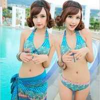 Bathing suit to buy 2014 New swimsuit female spa conservative covered belly steel bracket swimsuit New swimsuit small breasts