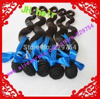 Cheap Price 100%Human Hair Wave  Brazilian Virgin Remy Hair Natural Black 100g/pcs 4pcs Lot  mixd length in stock Free shipping