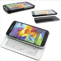 Slim Magnetic Sliding Wireless Bluetooth Keyboard Hard Case Cover for Samsung Galaxy S5 i9600 Free Shipping