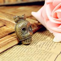 151skeleton design  diy necklace bracelet component  9 pcs/lot 37*25MM pendants alloy  lucky Charms  Jewelry Findings