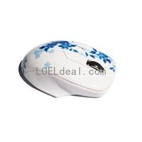 CARPO V9 2.4GHz 1200DPI Wireless Optical Mouse with Mini USB Receiver for PC Laptop - Ceramic White