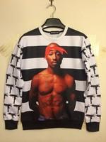 2014 New men high-quality Super basketball star print 3d sweatshirt hip hop women hoodies