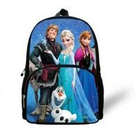 Free Shipping 2014 Lovely Hot Selling New Style Children Frozen cartoon brand  kids Children's school Student book bag for girls