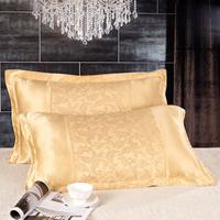 4 color  mulberry Jacquard Silk Pillowcase size 74cm*48cm+3cm good quality pillowcases free shipping 2 pcs