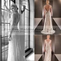 Vestidos De Novia Vintage Wedding Dresses Luxury Sexy Backless Wedding Dresses 2015 Bridal Gown Casamento Robe De Mariage