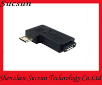 Micro USB Male to Micro USB Female Adapter 90 Degree