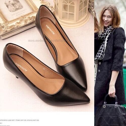 Innovative New Women39s Work Dress Comfort Slip On Loafer Shoes BlackBrown Size 7