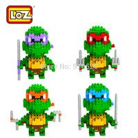 LOZ Diamond Blocks Toy Teenage Mutant Ninja Turtles TMNT Building Blocks Sets Model Educational DIY Bricks Toys Gift Box
