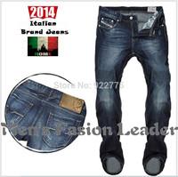 W29-W40#L34#Blue#528,New 2014 Italian Disel Brand Men's Jeans,Fashion Designer Large Size Skinny Perfume Ture Denim Jeans Men