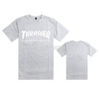 Men's Thrasher Skateboard Magazine T shirts sports tops summer cotton tee shirt 11 colors to choose