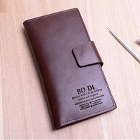 High Quality Male Desigual Genuine Leather Wallet Brief Long Men Wallets Grid Carteira Man's Purses With Coin Bag Money Clip