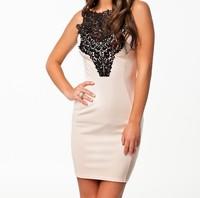2014 New Summer Dress Women Elegant Mini Office Lady Business Dress Women Work Wear Casual Embroidery Dress