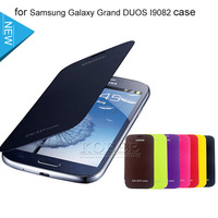 Original 1:1 Case for Samsung Galaxy Grand Duos i9082,S View Smart Window Magnetic Leather Case Cover for Samsung Galaxy i9082