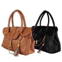 Women's Lacdies PU Leather Handbag Shoulder Bag Tote Tassel Handbags Satchel Dropshipping S5K