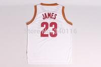Free Shipping,2014-2015 season Cleveland New fabrics basketball jersey #23 LeBron James jersey
