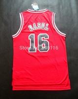 Free Shipping,2014-2015 season Chicago basketball jersey #16 Gasol basketball jersey