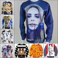 2014New men women's 1991inc Lana Del Rey/Marilyn Monroe/animal 3D print Pullover galaxy simple Sweatshirts Life Hoodies crop Top