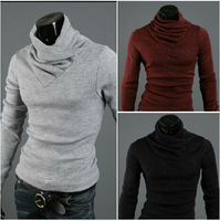 Hot sale free shipping 2014 men's knitted fashion sweater turtleneck sweater pullovers,mens knit sweater
