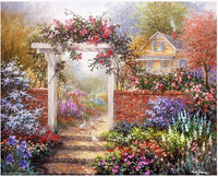 Free shipping! Needlework Crafts French DMC Quality Counted Cross Stitch Kit Oil Painting  Flower Garden