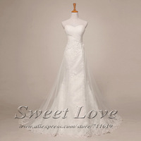 A-line Strapless Pleat Cross Top Bridal Wedding Dress