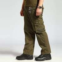 Free shipping new 2014 hiking camping multi-pocket baggy pants for men training pants men casual pants