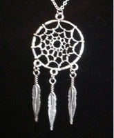 Vintage Silver DREAMCATCHER  Charms Statement Collar Choker Necklace&Pendants For Women Fashion Jewelry  2015 New X169