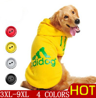 Dog clothes for dogs Large size winter coat Big dogs Hoodie apparel 100%Cotton Clothing for dogs sportswear 3XL-- 9XL