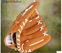 2014 new environmental softball glove 12.5 inch adult baseball glove catching orange gloves free shipping