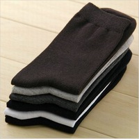 New fashion men cotton socks casual men socks solid color winter thick socks Breathing sock 10pairs/lot Free shipping